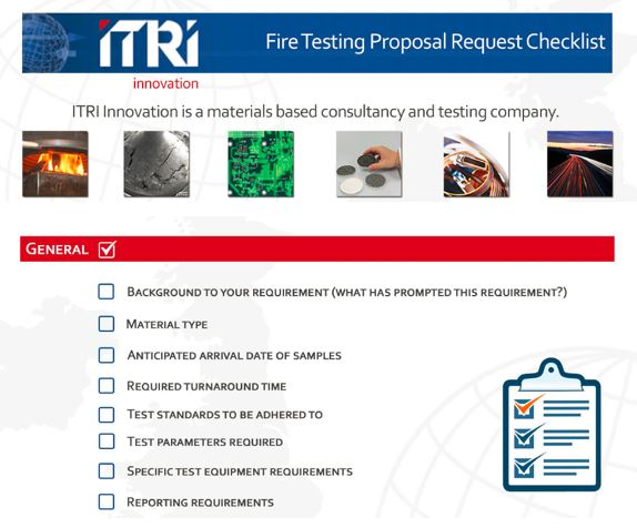 Fire Testing Proposal Request Checklist